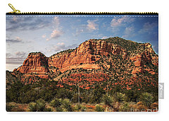 Carry-all Pouch featuring the photograph Sedona Vortex  And Yucca by Barbara Chichester
