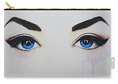 Carry-all Pouch featuring the painting Seeing Into The Soul Seductive by Malinda  Prudhomme