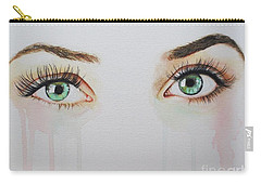 Carry-all Pouch featuring the painting Seeing Into The Soul Sultry by Malinda  Prudhomme