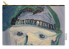 Self Portrait In Blue And Green Carry-all Pouch