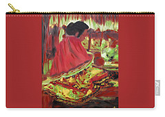 Carry-all Pouch featuring the painting Seminole Indian At Work by Deborah Boyd
