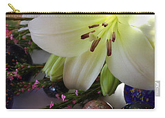 Carry-all Pouch featuring the photograph Send The Light Lily With Marbles by Bonnie Willis