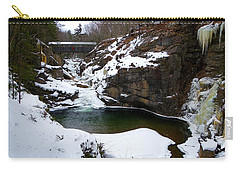 Sentinel Pine Bridge In Winter Carry-all Pouch