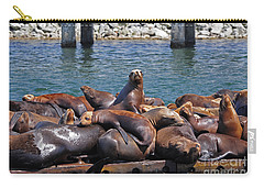 Sentry Sea Lion And Friends Carry-all Pouch by Susan Wiedmann