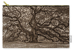 Sepia Angel Oak Carry-all Pouch