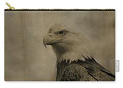 Sepia Bald Eagle Portrait Carry-all Pouch