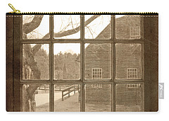 Sepia Colonial Scene Through Antique Window Carry-all Pouch
