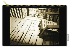 Carry-all Pouch featuring the photograph Sepia - Nature Paws In The Snow by Absinthe Art By Michelle LeAnn Scott