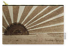Sepia Sunset Original Painting Carry-all Pouch by Sol Luckman