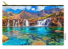 Serene Green Waters Carry-all Pouch by Catherine Lott