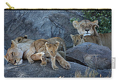 Serengeti Pride Carry-all Pouch by David Beebe