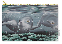 Carry-all Pouch featuring the painting Serenity by Dianna Lewis