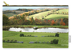 Carry-all Pouch featuring the photograph Serenity Hill by Carol Lynn Coronios
