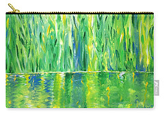 Serenity In Green Carry-all Pouch by Donna Blackhall