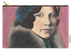 Carry-all Pouch featuring the painting Serenity by Jeanne Fischer