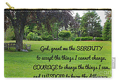 Serenity Prayer And Park Bench Carry-all Pouch
