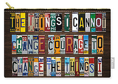 Serenity Prayer Mixed Media Carry-All Pouches