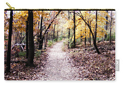 Carry-all Pouch featuring the photograph Serenity Walk In The Woods by Peggy Franz