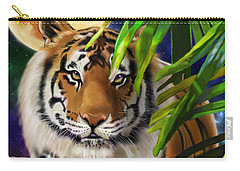 Carry-all Pouch featuring the painting Second In The Big Cat Series - Tiger by Thomas J Herring