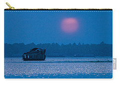 Setting Sun And Boat Carry-all Pouch