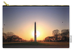 Setting Sun On Washington Monument Carry-all Pouch