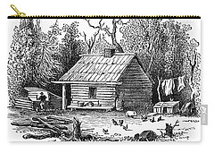 Settler's Log Cabin - 1878 Carry-all Pouch