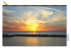 Seven Mile Sunset Over Grand Cayman Carry-all Pouch by Amy McDaniel