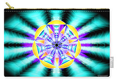Carry-all Pouch featuring the drawing Seventh Ray Of Consciousness by Derek Gedney