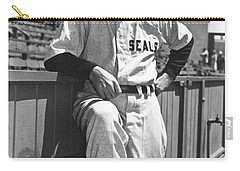 Sf Seals Manager Lefty O'doul Carry-all Pouch by Underwood Archives
