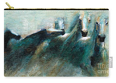 Shades Of Blue Carry-all Pouch by Frances Marino