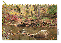 Carry-all Pouch featuring the photograph Shades Of Fall In Ridley Park by Patrice Zinck