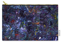 Carry-all Pouch featuring the painting Shadow Blue Square by James W Johnson