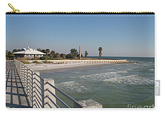 Carry-all Pouch featuring the photograph Shadow On The Pier by Christiane Schulze Art And Photography