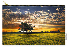 Shadows At Sunset Carry-all Pouch by Debra and Dave Vanderlaan