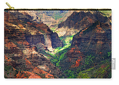 Shadows Of Waimea Canyon Carry-all Pouch