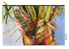 Shady Palm Tree Carry-all Pouch by Carlin Blahnik