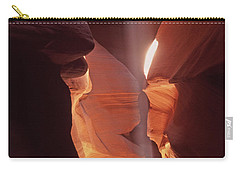 Shaft Of Light Antelope Canyon Carry-all Pouch by Liz Leyden