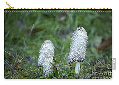 Carry-all Pouch featuring the photograph Shaggy Cap Mushroom No. 3 by Belinda Greb