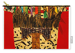 Carry-all Pouch featuring the tapestry - textile Shaka Zulu by Apanaki Temitayo M