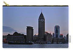 Shanghai Bund Panorama - Dusk Carry-all Pouch