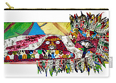 Carry-all Pouch featuring the tapestry - textile Shango Firebird by Apanaki Temitayo M