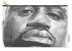 Carry-all Pouch featuring the drawing Shaq by Tamir Barkan