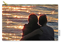 Sharing A Sunset Squared Carry-all Pouch