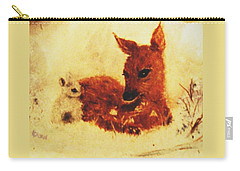 Carry-all Pouch featuring the painting Sharing Secrets by Hazel Holland