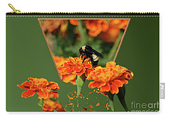 Carry-all Pouch featuring the photograph Sharing The Nectar Of Life by Thomas Woolworth