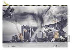 Carry-all Pouch featuring the photograph Sharknado Detroit by Nicholas  Grunas