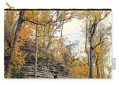Carry-all Pouch featuring the photograph Shawee Bluff In Fall by Marty Koch