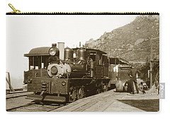 Carry-all Pouch featuring the photograph Shay No. 498 At The Summit Of Mt. Tamalpais Marin Co California Circa 1902 by California Views Mr Pat Hathaway Archives