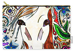 She Grazes Where Flowers Grow - Horse Carry-all Pouch