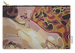 She Only Wears Red Carry-all Pouch by Tracey Harrington-Simpson